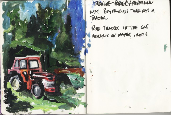 Tractor, Olanda, Acrylic