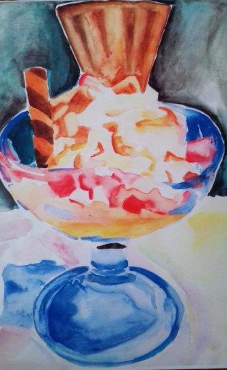watercolour sundae